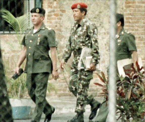 Уго Чавес во время переворота