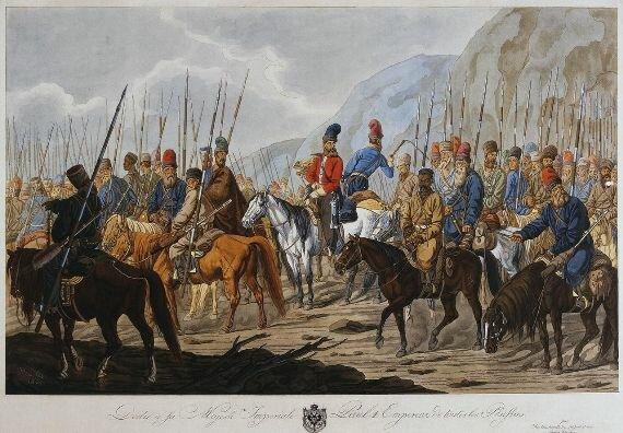 Уральские казаки на марше