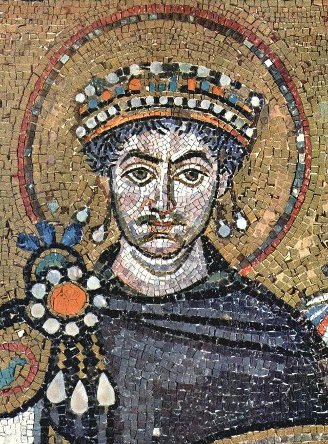 Юстиниан Великий. Мозаика церкви Сан-Витале в Равенне