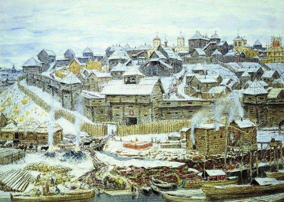 Васнецов А.М. Московский Кремль при Иване Калите. 1921 г.
