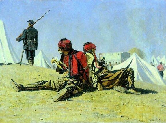 Два ястреба (Башибузуки). Худ. В. В. Верещагин, 1878-1879 гг.