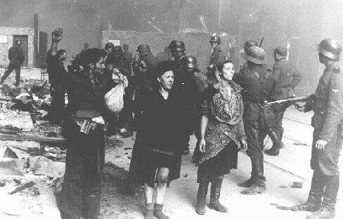 восставшие в варшавском гетто