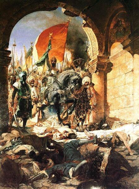 вступление Мехмеда в Константинополь