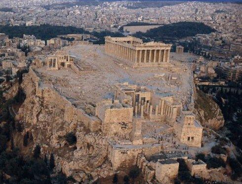 Афинский Акрополь. Вид с воздуха