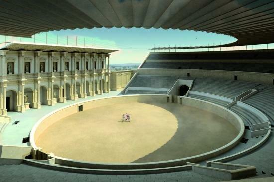 Амфитеатр в Лютеции. Реконструкция.