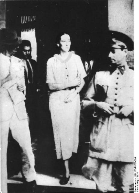 Арест Ольги Бенарио-Престес в Бразилии. Фото: 1936 г.