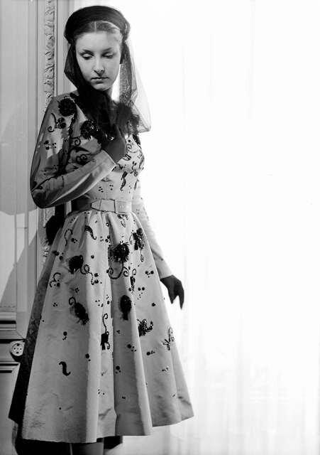 Платье с испанскими мотивами из коллекции К. Баленсиага, 1946 г.