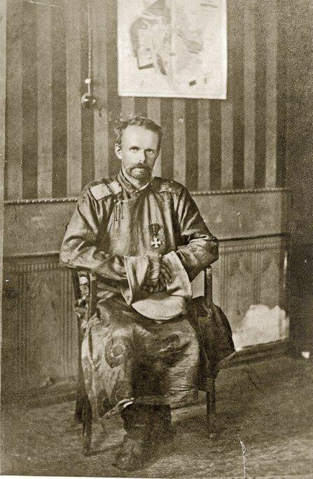 Генерал-лейтенант барон Роман Федорович фон Унгерн-Штернберг в Иркутске на допросе в штабе 5-й советской армии. 1-2 сентября 1921 года