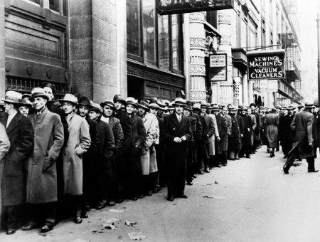 Очередь безработных в США. Фото 30-х годов