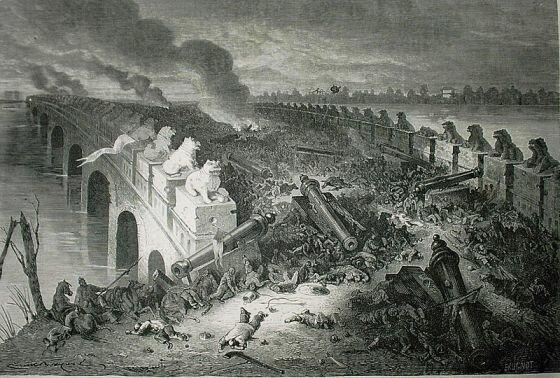 Мост Балицяо, вечер битвы. рис. Эмиля Байяарда