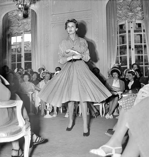 Дефиле в доме моды Кристиан Диор 20 июня 1950 г.