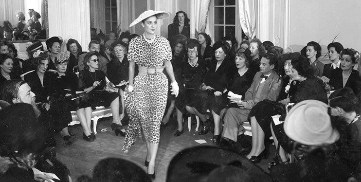 Дефиле New look Диора, 1947 г.