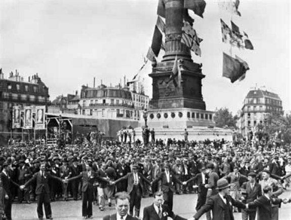 Демонстрация Народного фронта. Париж, 14 июля 1935 г.