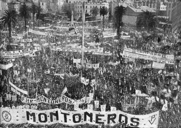 демонстрация Монтонерос