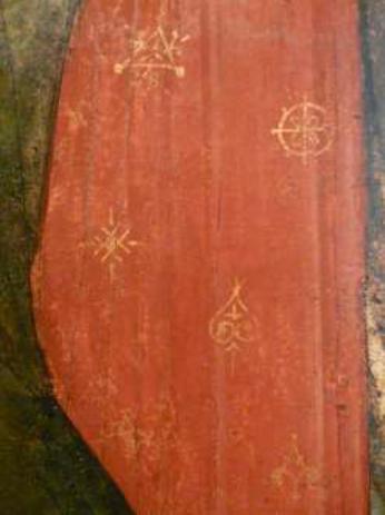 Деталь иконы арх. Гавриила из Праздничного чина. Мастер Даниил, Андрей Рублёв. 1408 г.