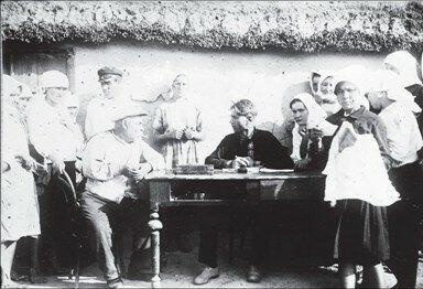 Допрос кулака инспектором труда, Одесская область, 1929 г
