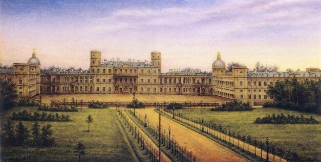 Гатчинский дворец, резиденция Павла I. Роспись по фарфору, вторая половина XIX века
