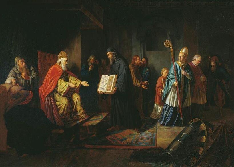 И. Эггинк Великий князь Владимир избирает религию. 1822