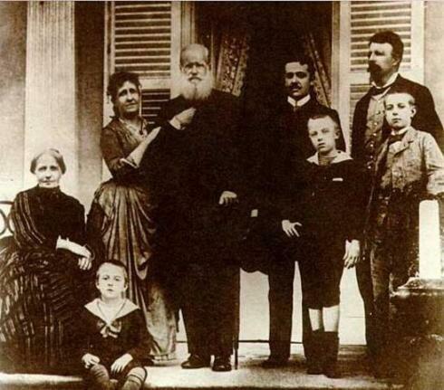 Бразильская императорская семья до их бегства во Францию. Фото: Отто Хаес, 1889 г.