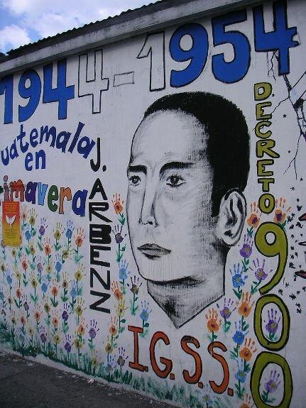 Фреска изображающая Х. Арбенса в память Гватемальской революции, Г. Гватемала, Гватемала