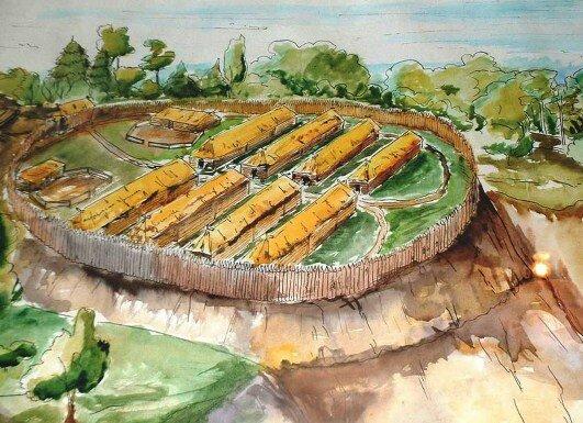 Реконструированное городище древних славян