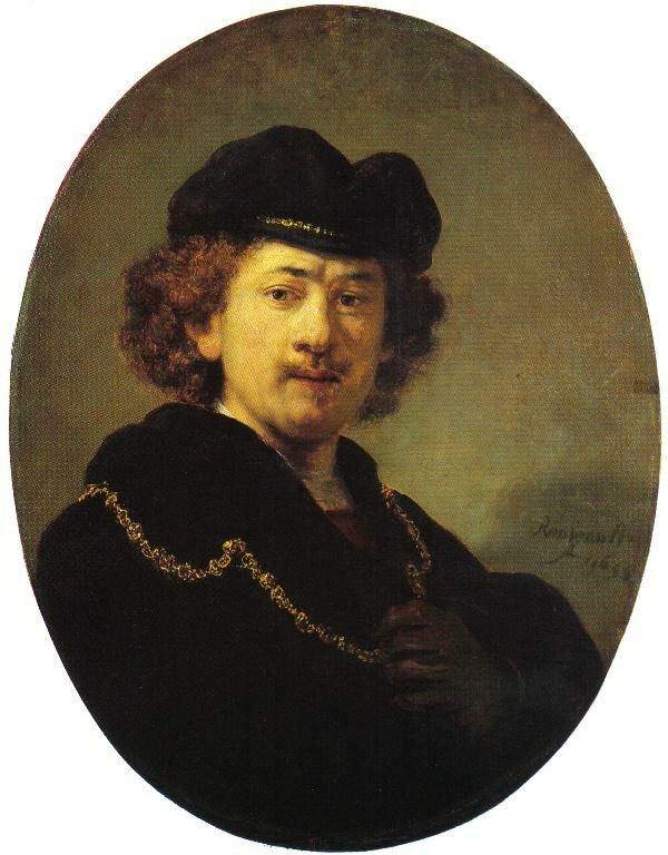 Автопортрет гравюра