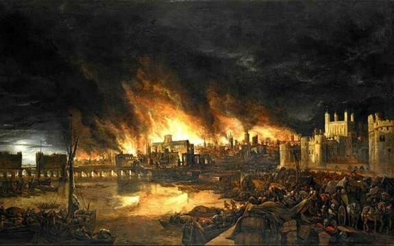 Лондонский пожар 1666 г.