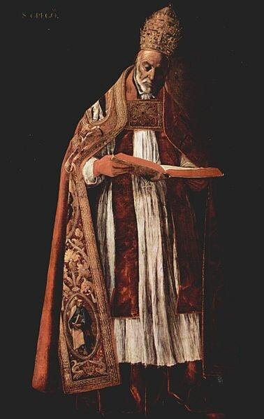 Худ. Ф. де Сурбаран Папа Григорий I. 1626-1627 гг. Музей изящных искусств, Севилья, Испания