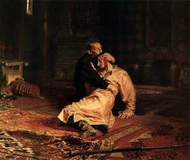 Иван Грозный убивает своего сына. худ. И. Репин