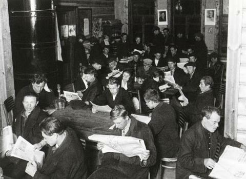 Изба читальня. Деревня Амерово, 1928 г., фото А. Шайхет
