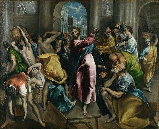 Изгнание торгующих из храма. Худ. Эль Греко