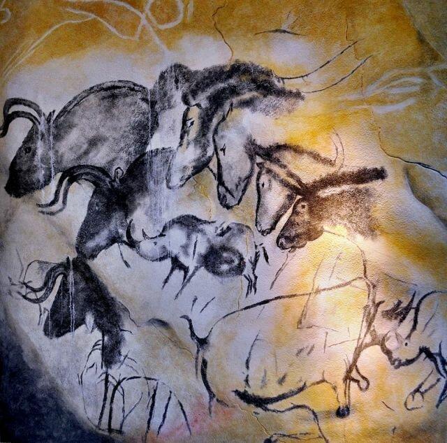 изображение лошадей в пещере