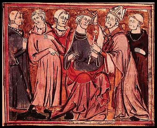 Коронация короля Артура. Французская хроника XIV в. Национальная библиотека. Париж, Франция