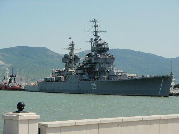 Крейсер «Михаил Кутузов» в порту Новороссийска