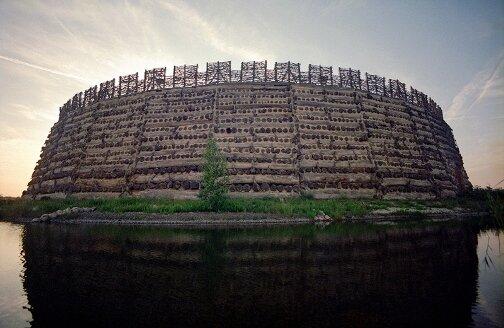 Макет крепости лужицких славян. Шпревальд, Германия