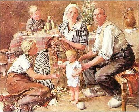 Крестьянская семья. Плакат