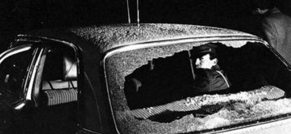 Машина, в которой был застрелен Лара