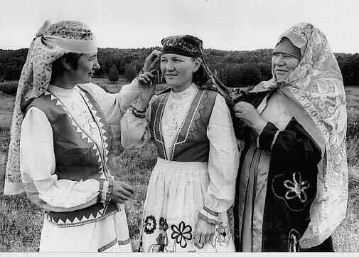 Традиционная женская одежда мещеры