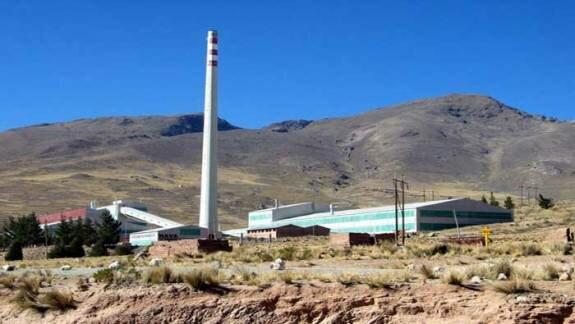 Металлургический завод в Карачипампе (в настоящее время не эксплуатируется)