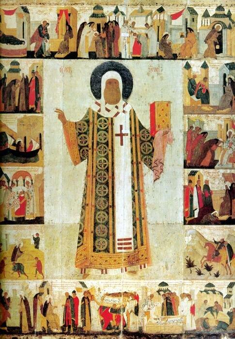 икона митрополит Петр с житием
