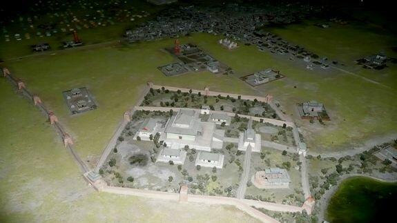 Модель древнего Каракорума в Монгольском историческом музее (Улан-Батор)