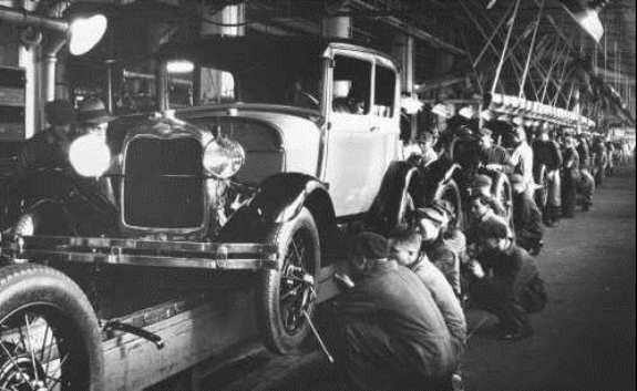 На заводе Форда. Фото: 1928 г.