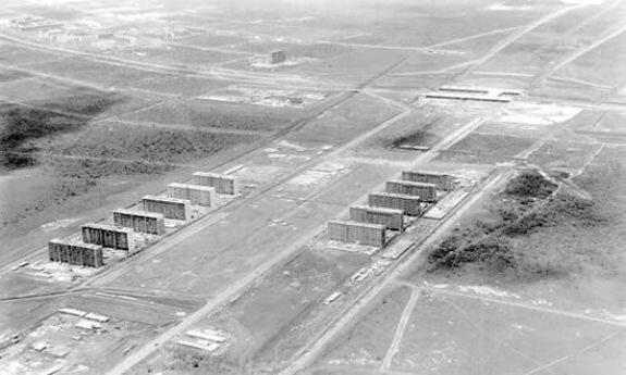 Начало строительства Бразилиа. Фото: 1950-е гг.
