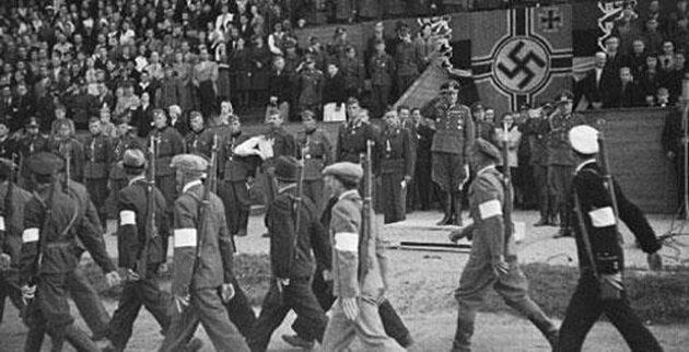 парад латышей