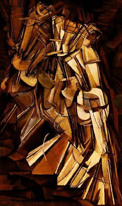 Марсель Дюшан. «Обнажённая, спускающаяся по лестнице», 1912.
