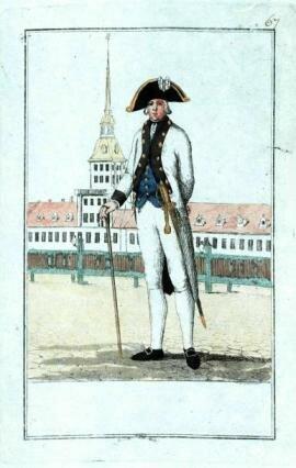 офицер 18 века