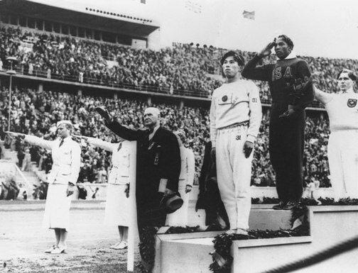 На Олимпиаде в Берлине, 1936 г.