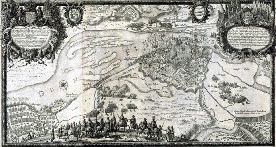 Осада Риги 1656 г. (гравюра XVII века)