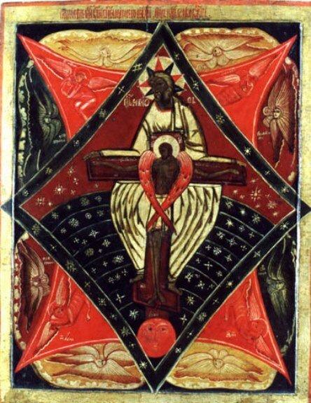 Икона «Отечество (Отец и Сын слово Божие)». Вторая половина XVII в.