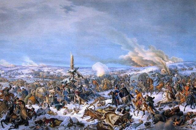 Худ. П. фон Гесс. Сражение на Березине, Государственный Эрмитаж, Санкт-Петербург